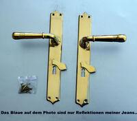 Luxusgriffe Antik Messing Tür Griffe Türgriffe Langschild BB Gründerzeit S60-1P