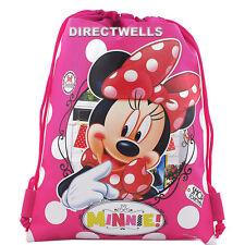 Disney Minnie Mouse Pink Drawstring Bag School Backpack