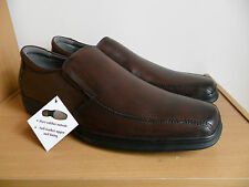 JULIUS MARLOW Premium dark brown leaher Mens comfort Shoes size AU10, NEW RRP129