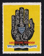 REKLAMEMARKE GERMANY AUSSTELLUNG MÜNCHEN 1927 DAS BAYERISCHE HANDWERK