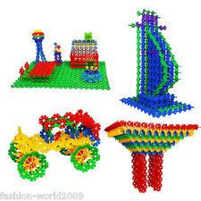 100pcs Kids Baby Snowflake Creative Building Blocks Educational Puzzle Toys New