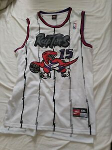 Retro 1998-99 Vince Carter #15 Toronto Raptors Basketball Trikots Stitched Weiß
