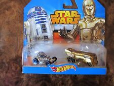 """Star Wars Character Hot Wheels 2 Pack Set, """"Dirty"""" R2-D2 & C-3PO, Brand New!"""