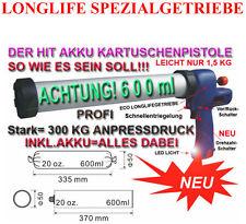 Bateria pistola de cartuchos 600 ml bolsa Profi Lang silicona silicona jeringa silicon