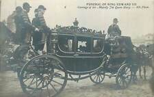 Postcard Royalty HORSE & CARRIAGE royal coach funeral of king Edward VII