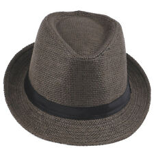 Men Women Boy Girl Kid Child Fedora Hat Trilby Cap Straw Jazz Sunhat Sunbonnet
