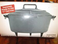 NEW Volcano 8 Quart Cast Iron  Camp Dutch Oven Feet Pre Seasoned griswold