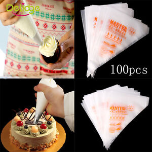 100pcs 3 Size Disposable Cream Pastry Cake Icing Piping Decorating Bags Tools
