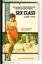SEX CLASS by Mark Tyman, rare US Royal Line #130 sleaze gga pulp vintage pb