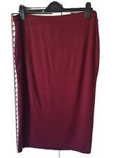 Plus Midi Tube Skirt Size 22 Wine