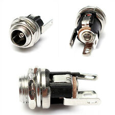 5.5mm X 2.1mm DC Power Supply Metal Jack Socket With Nut And Washer