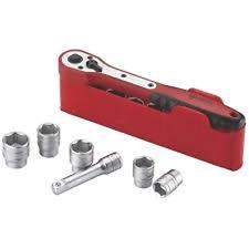"Teng M3812N1 3/8"" Drive Ratchet & Socket Set 8 - 19mm in plastic tray 12 Piece"