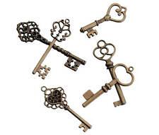 24 Vintage Bronze Skeleton Keys Wedding Escort Tags Gift Favors