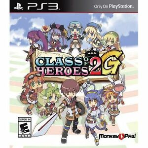 Class of Heroes 2G [PlayStation 3 PS3, D Variant Numbered, Dungeon Crawl JRPG]