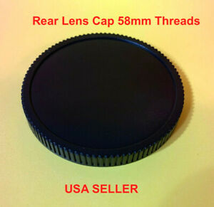 Screw in type REAR LENS CAP for your lens with 58mm Rear Threads 58 mm