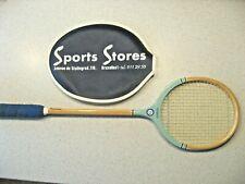 Vtg Grays of Cambridge Wooden Squash Racquet Light Blue Super Model Made England