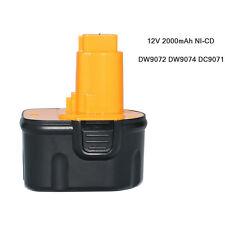 12V 2000mAh Battery for Dewalt DW9071 DW9074 DE9037 DW9072 DE9075 DW9071