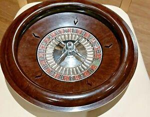 Chad Valley Vintage Roulette Wheel Bakelite Brown Burr Walnut & Ball 1920's-60s
