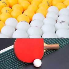 100 pcs blanc Jaune olympique Tennis table Balle ping pong entraine toi entraîne