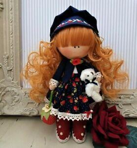 Rag doll handmade in the UK Tilda doll Ooak doll Art doll GRISELDA 8 inch tall