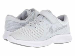 Nike  Boys Sneakers Non-Tie  Pure Platinum/Wolf Grey Revolutio  Size 12 1/2 M