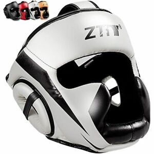 Boxing Helmet PU Leather Full Covered Training Sparring Gym Equipment Head Guard