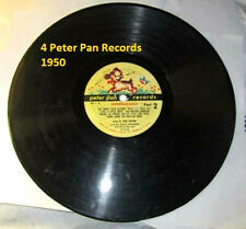 peter pan records two sided 78 over 20 songs vintage 1950 4 disc antique disney