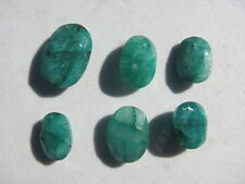 Fantastic  Lot  of(6) faceted EMERALD/ Columbia 37 cts