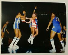 1972 INDIANA PACERS AT NY NETS ABA 8X10 REPRINT PHOTO GEORGE McGINNIS JOHN ROCHE