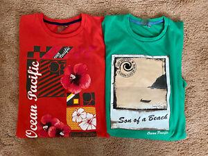 Ocean Pacific Mens Beach Surf Tshirts Size Medium Bundle Two Tshirts
