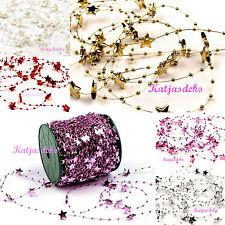1m Sternenkette Sternen Girlande Perlenkette Deko Sterne Tischdeko Weihnachten