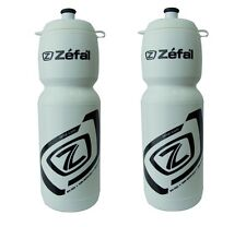 2 x ZEFAL WHITE 750ml Cycle Bike DRINK DRINKS WATER BOTTLE BOTTLES wide neck