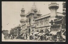 REAL PHOTO Postcard BOMBAY INDIA  Rydownie Massid Business Storefronts 1910?