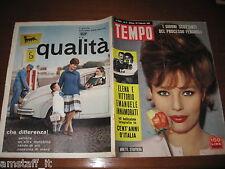 RIVISTA TEMPO 1961/8=ANNETTE STROYBERG=CENT'ANNI D'ITALIA=PUBBLICITA' AGIP=