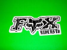 FOX RACING MOTOCROSS ATV QUAD SKATEBOARD SNOWBOARD BLACK CHUCKY STICKER DECAL
