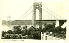 New York,Ny. The George Washington Bridge Rppc