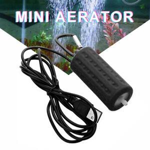 Black Ultra Silent Mini USB Aquarium Fish Tank Energy Saving Oxygen Air-pump