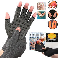 Compression Gloves Brace Support Arthritis Relief Sport Hand Wrist Pain Therapy