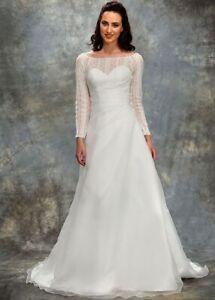 Ex Sample Berketex Aubrey Ivory Wedding Dress Gown Sleeves 16 18