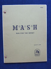 ORIGINAL MASH COMPLETE TV SCRIPT 'RUN FOR THE MONEY' From Original Crew Member