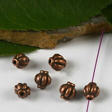 50pcs copper-tone spacer beads h2909
