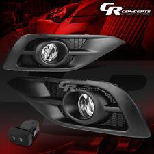 CLEAR LENS BUMPER DRIVING FOG LIGHTS+SWITCH+BEZELS LH+RH FOR 12-14 HONDA CRV RM