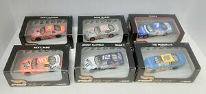 LOT of SIX 1997/98 Hot Wheels Racing NASCAR 1/43 Scale #`s 5,6,7,10,12 & 16