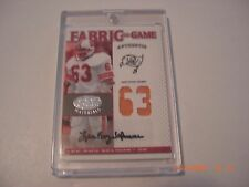 Lee Roy Selmon 2007 Fabric Of The Game Used Dual Jersey Auto 39/63 Signed Card