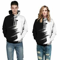 Mens Womens 3D Print Hoodie Hooded Jumper Pullover Sweatshirt Tops Graphic