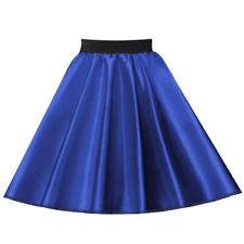 LADIES 50s Costume Musical Plain SATIN or Polyester Jive Rock nRoll Circle Skirt