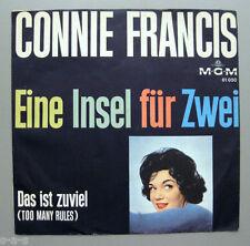 """Connie Francis - Eine Insel für Zwei / Das ist zuviel (Too Many Rules)  7"""" M-G-M"""
