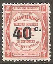 Mint Hinged French Postage Due Stamps