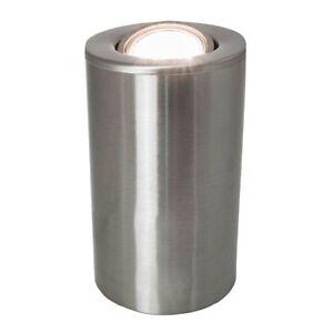 Satin Chrome GU10 Floor or Table Lamp Uplighter with Tilt Capability by Happy...