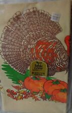 Reed Paper Thanksgiving  Paper Tablecloth 52 inches By 96 Inches